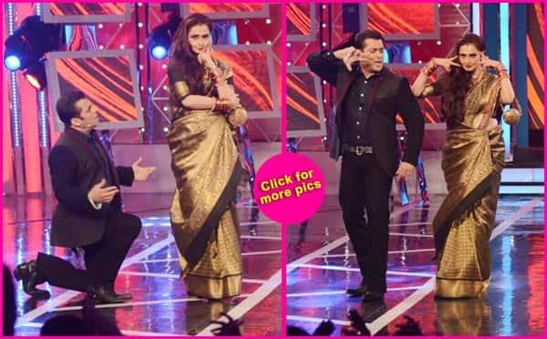 Bigg Boss 8: Rekha shakes a leg with Salman Khan – View pics!
