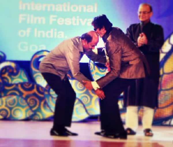 When Amitabh Bachchan blessed Rajinikanth…