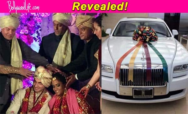 Wedding Gift For Brother India : ... Khans gift to sister Arpita Khan and brother-in-law Ayush Sharma