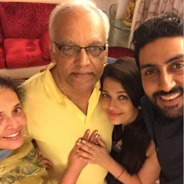 Aishwarya Rai Bachchan celebrates her dad's 75th birthday along with hubby Abhishek Bachchan