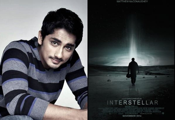 Siddharth was approached for Christopher Nolan's Interstellar!
