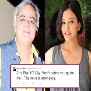 Hansal Mehta rubbishes reports of signing Shweta Basu Prasad for his documentary!