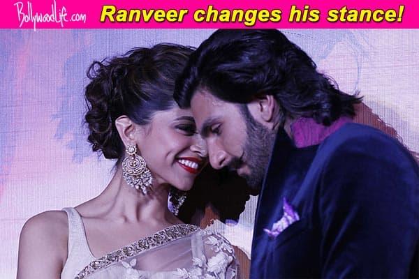 Why is Ranveer Singh avoiding questions on Deepika Padukone?