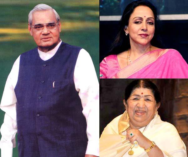 Lata Mangeshkar, Hema Malini congratulate Atal Bihari Vajpayee on receiving Bharat Ratna honour