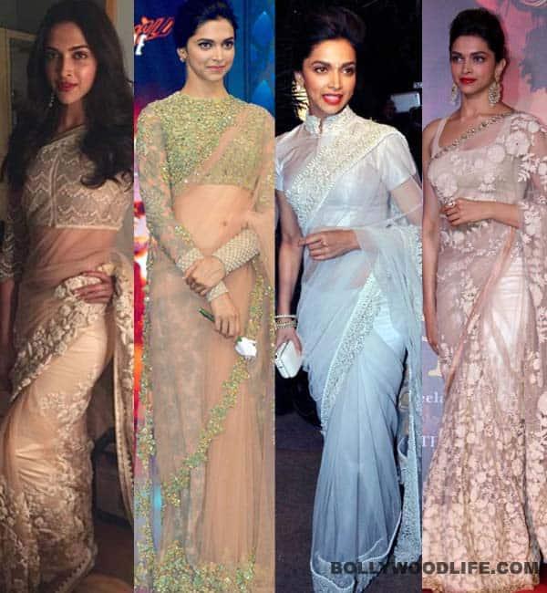 Saree affair: Deepika Padukone's love for net sarees grows!