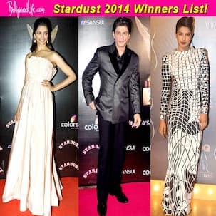 Stardust awards 2014 winners list: Shah Rukh Khan, Priyanka Chopra, Deepika Padukone walk away with the trophies