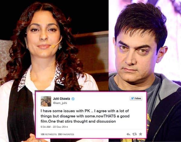 Juhi Chawla unhappy with Aamir Khan's PK?
