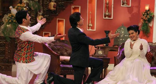 Shah Rukh Khan and Kajol make fun of Kapil Sharma on Comedy Nights with Kapil – watch video!