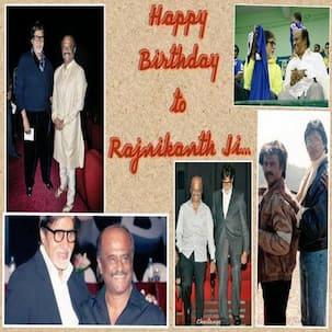 Amitabh Bachchan wishes happiness and good health to Rajinikanth on his birthday
