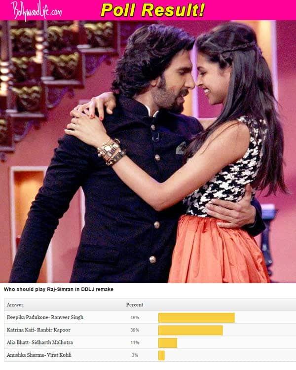 Deepika Padukone-Ranveer Singh should replace Shah Rukh Khan and Kajol in the Dilwale Dulhania Le Jayenge remake!