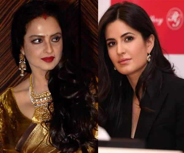 Katrina Kaif bonds with Rekha on the sets of Fitoor