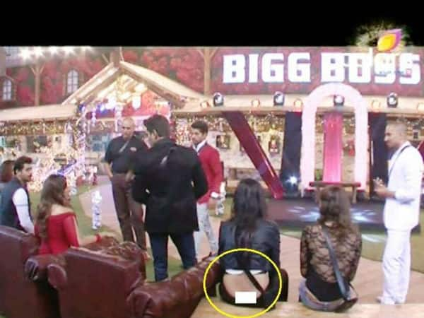 Bigg Boss 8: OMG! Sonali Raut's wardrobe malfunction picture goes viral - view pic!