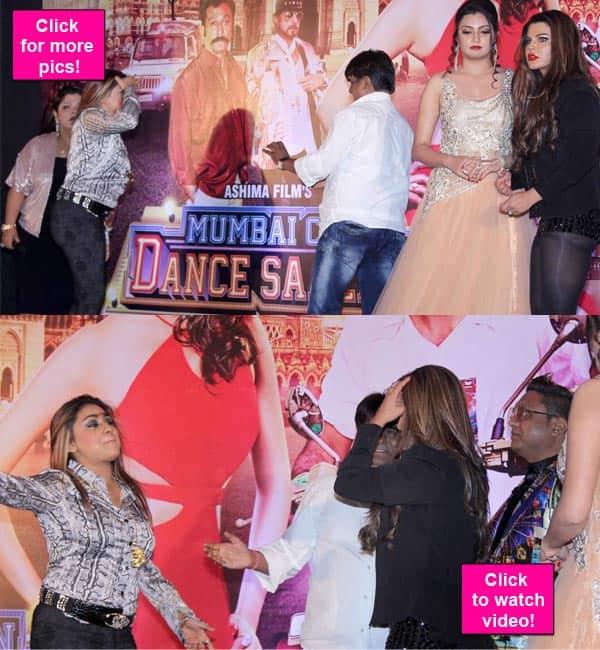 OMG: Rakhi Sawant's friend Manisha slaps Mumbai Can Dance Saala director Sachendra Sharma-watch video!