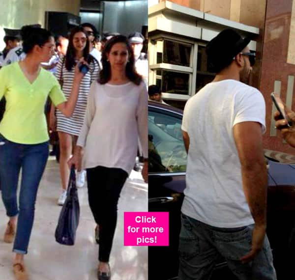 Ranveer Singh shops with Deepika Padukone and her family – view pics!