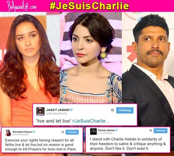 Charlie Hebdo attack: Shraddha Kapoor, Anushka Sharma, Farhan Akhtar react to brutal killings in Paris
