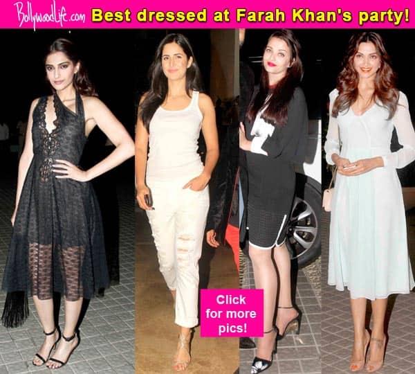 Deepika Padukone, Katrina Kaif, Aishwarya Rai Bachchan: Best dressed celebs at Farah Khan's birthday bash- view pics!