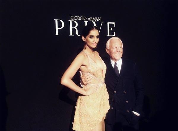 Giorgio Armani's special gift for Sonam Kapoor…