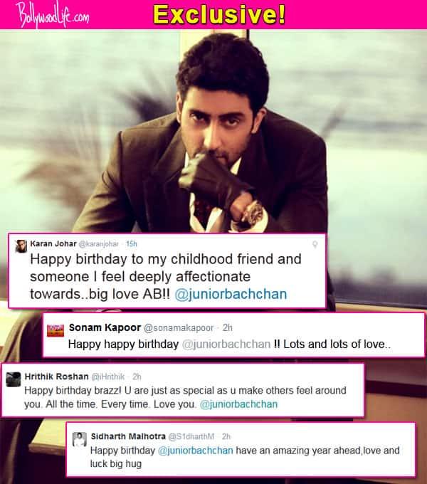 Birthday Special: Karan Johar, Sonam Kapoor, Sidharth Malhotra, Hrithik Roshan wish Abhishek Bachchan