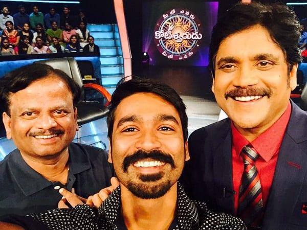 Dhanush promotes Anekudu on Nagarjuna's Meelo Evaru Koteeswarudu!