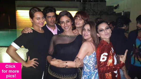 Kangana Ranaut, Preity Zinta, Alia Bhatt, Tabu celebrate the success of Queen at Filmfare awards – View pics!