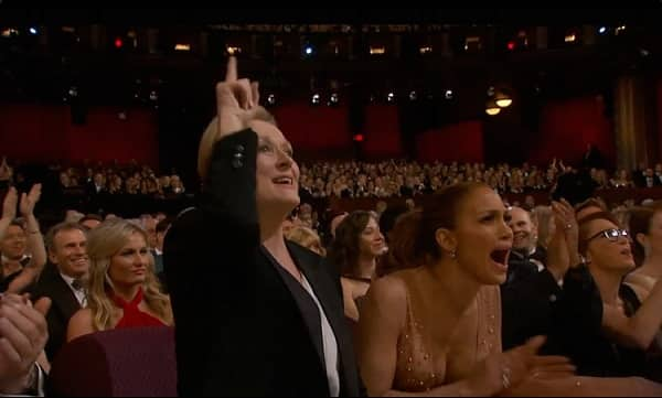 Meryl Streep Oscars 2015 Patricia Arquette
