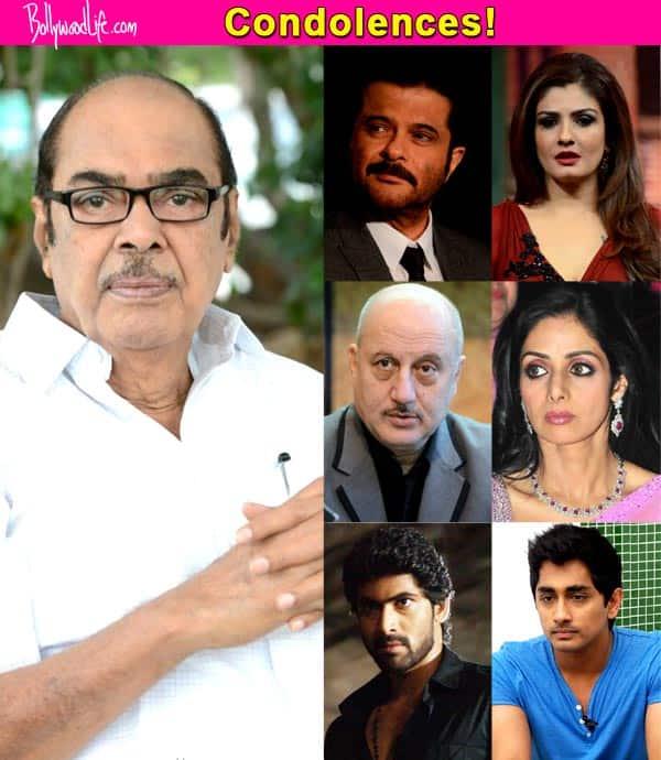 Anil Kapoor, Anupam Kher, Siddharth, Sridevi, Rana Daggubati, Raveen Tandon mourn the death of Daggubati Ramanaidu
