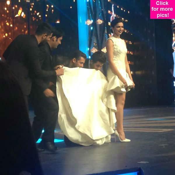 Filmfare Awards 2015: Salman Khan and Sidharth Malhotra do the 'Jumme Ki Raat' step with Deepika Padukone's dress!