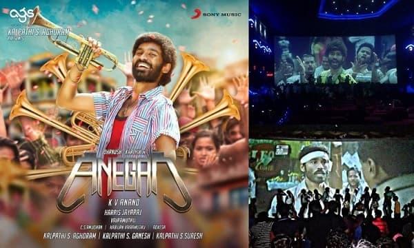 Dhanush mania: Fans go berserk watching Anegan – view pics!