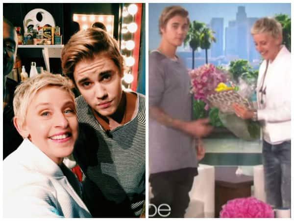 Justin Bieber's surprise to Ellen DeGeneres - watch video