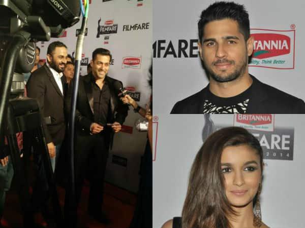 Filmfare Awards 2015: Salman Khan, Alia Bhatt and Sidharth Malhotra arrive as the ultimate 'Showstoppers!'