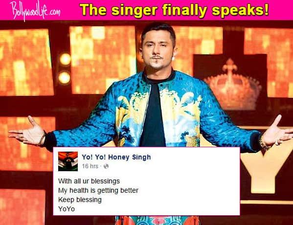 Yo Yo Honey Singh: My health is getting better