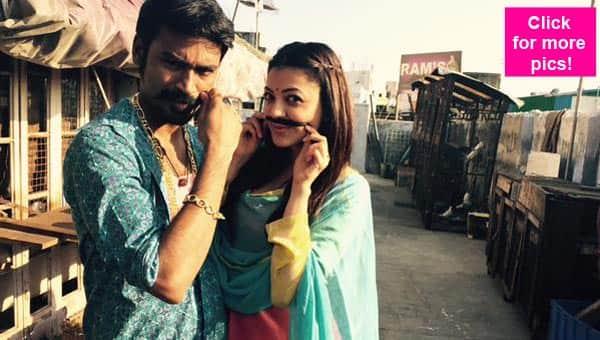 Dhanush, Kajal Aggarwal have a blast shooting for Maari – view pics!