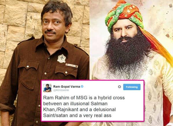OMG: Ram Gopal Varma calls MSG: The Messenger's Saint Gurmeet Ram Rahim Singh Ji Insaan an ass!