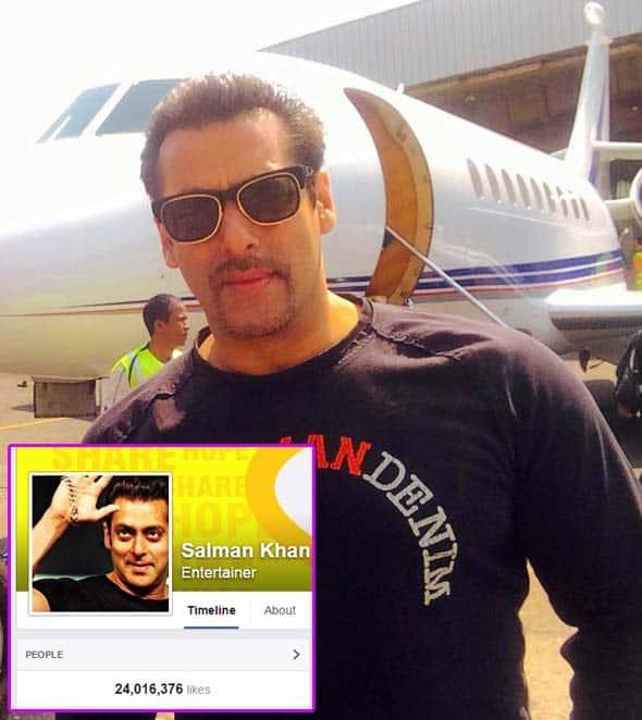 Salman Khan leaves behind Amitabh Bachchan and Shah Rukh Khan, gets 24 million followers on Facebook!