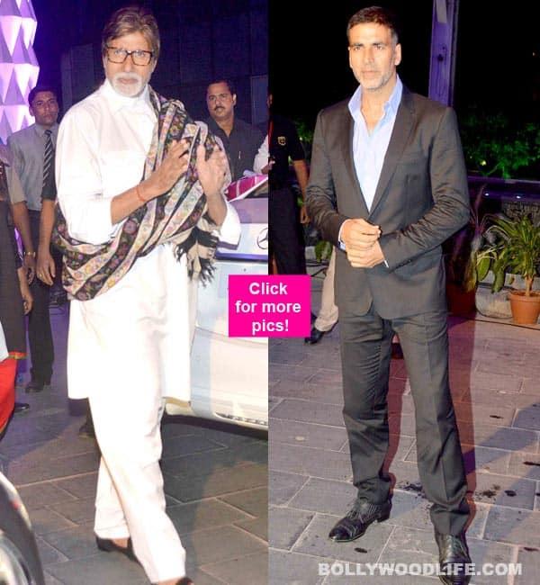 Akshay Kumar, Amitabh Bachchan attend the wedding ceremony of Smita Thackeray's son – view pics!