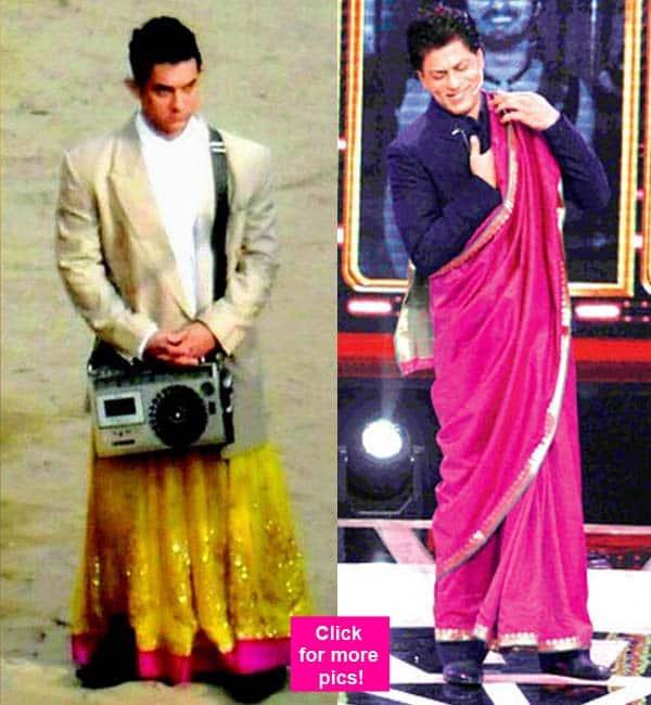 After Aamir Khan, Shah Rukh Khan cross-dresses on Sabse Shaana Kaun – view pics!