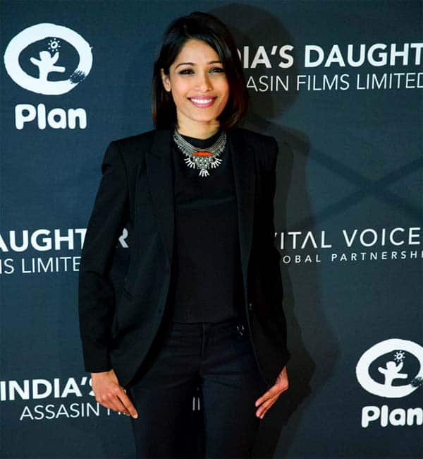 Freida Pinto urges men to fight for women's rights at India's Daughter US premiere!