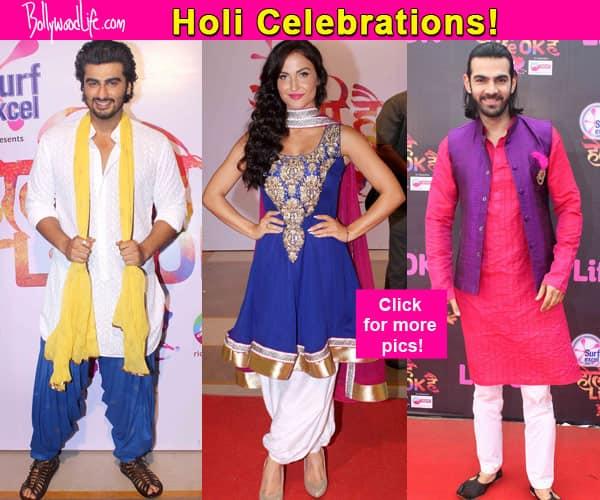 Arjun Kapoor, Elli Avram, Karan Grover, Kanika Kapoor join Life OK's Holi celebration- view pics!
