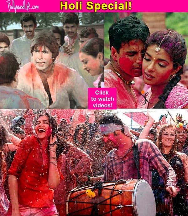 Holi special: Ranbir's Balam Pichkari, Ranveer- Deepika's Lahu Munh Lag Gaya, Amitabh-Rekha's Rang Barse – songs for the festival of colours!
