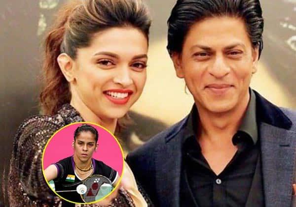 Shah Rukh Khan and Deepika Padukone cheer for Saina Nehwal to win All England Badminton final!