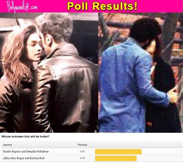 Ranbir Kapoor's kiss with Deepika Padukone hotter than Katrina Kaif and Aditya Roy Kapur's lip-lock, say fans!