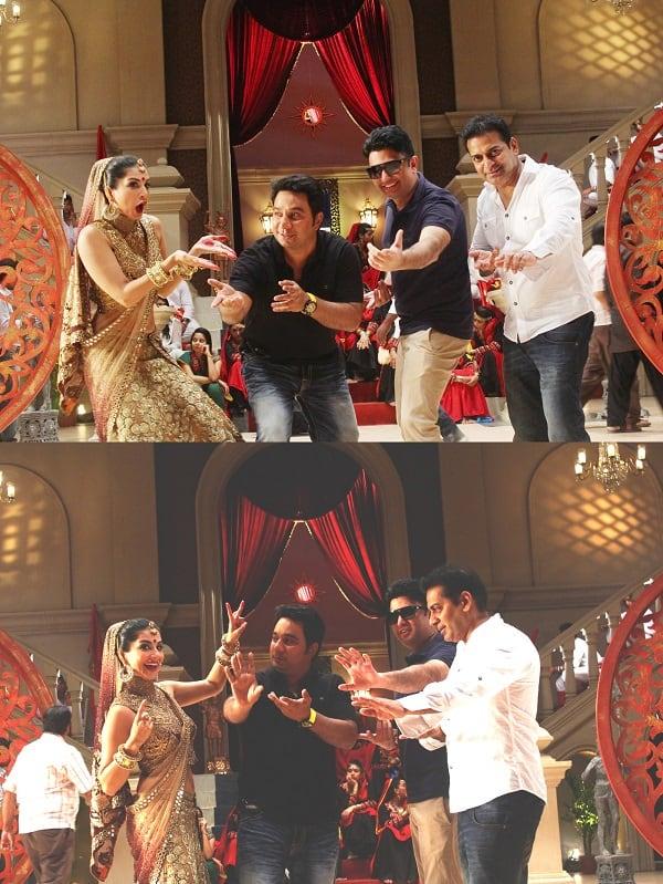 Sunny Leone breaks into an impromptu jig with the producers of Ek Paheli Leela!