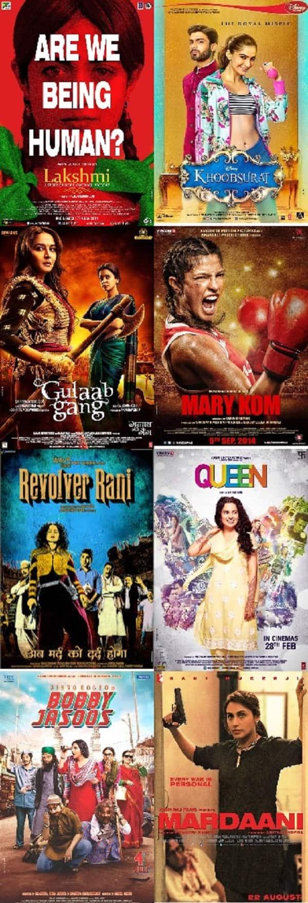 Women's Day Special: Rani Mukerji's Mardaani, Kangana Ranaut's Queen, Priyanka Chopra's Mary Kom, Sonam Kapoor's Khoobsurat - women centric films that rocked last year!