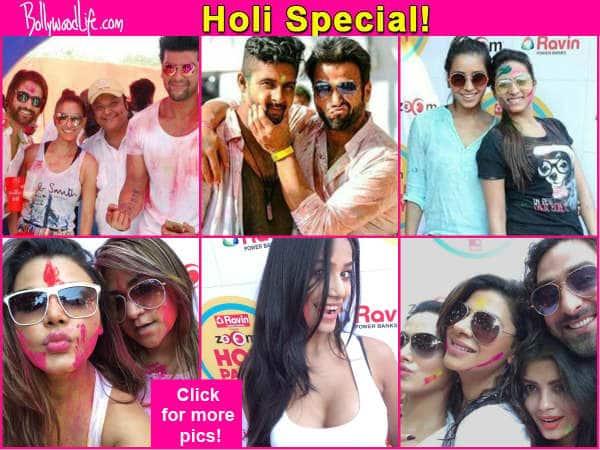Rithvik Dhanjani, Ravi Dubey, Poonam Pandey, Rashami Desai enjoy Holi – View pics!