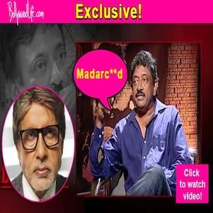 When Ram Gopal Varma sent Amitabh Bachchan an SMS with the abuse Madarc**d - watch video!