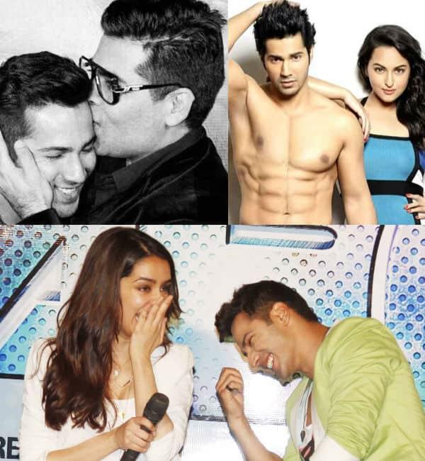 Sonakshi Sinha, Shraddha Kapoor and Karan Johar shower love on birthday boy Varun Dhawan!
