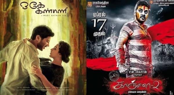 Box office battle: Mani Ratnam's O Kadhal Kanmani clashes with Raghava Lawrence's Kanchana 2