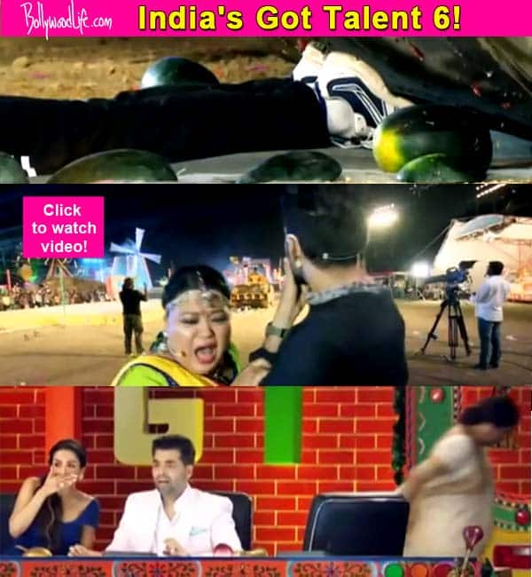 India's Got Talent 6: This stunt not only scared Kirron Kher, but also the very brave Bharti Singh- Watch video!