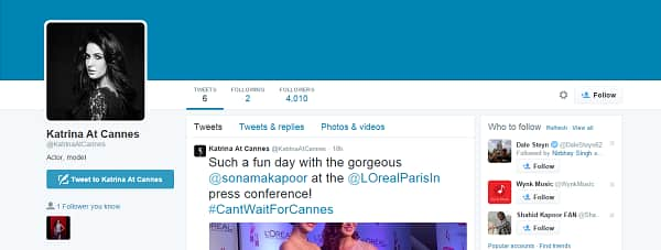 After Ranbir Kapoor, now Katrina Kaif joins twitter finally