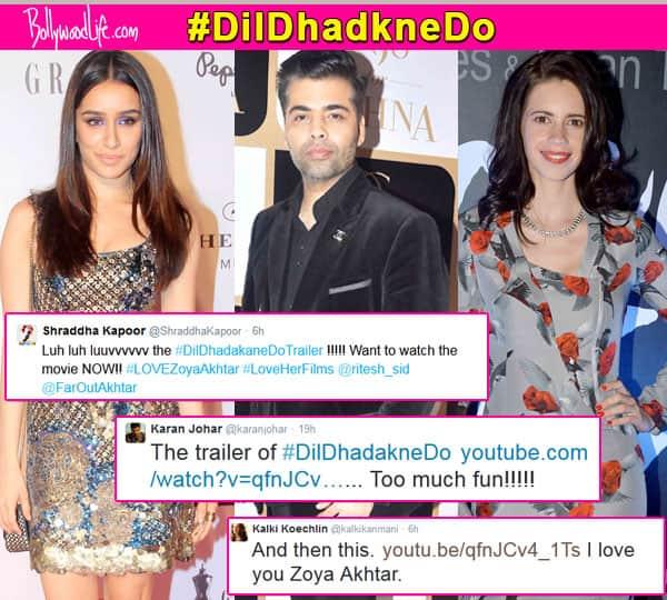 Shraddha Kapoor, Kalki Koechlin, Karan Johar bowled over by Dil Dhadakne Do trailer!
